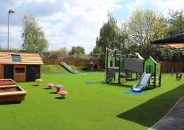 Plaistow Primary Early Years redevelopment, drainage, leveling, landforms, traditional play, sand shed and synthetic grass